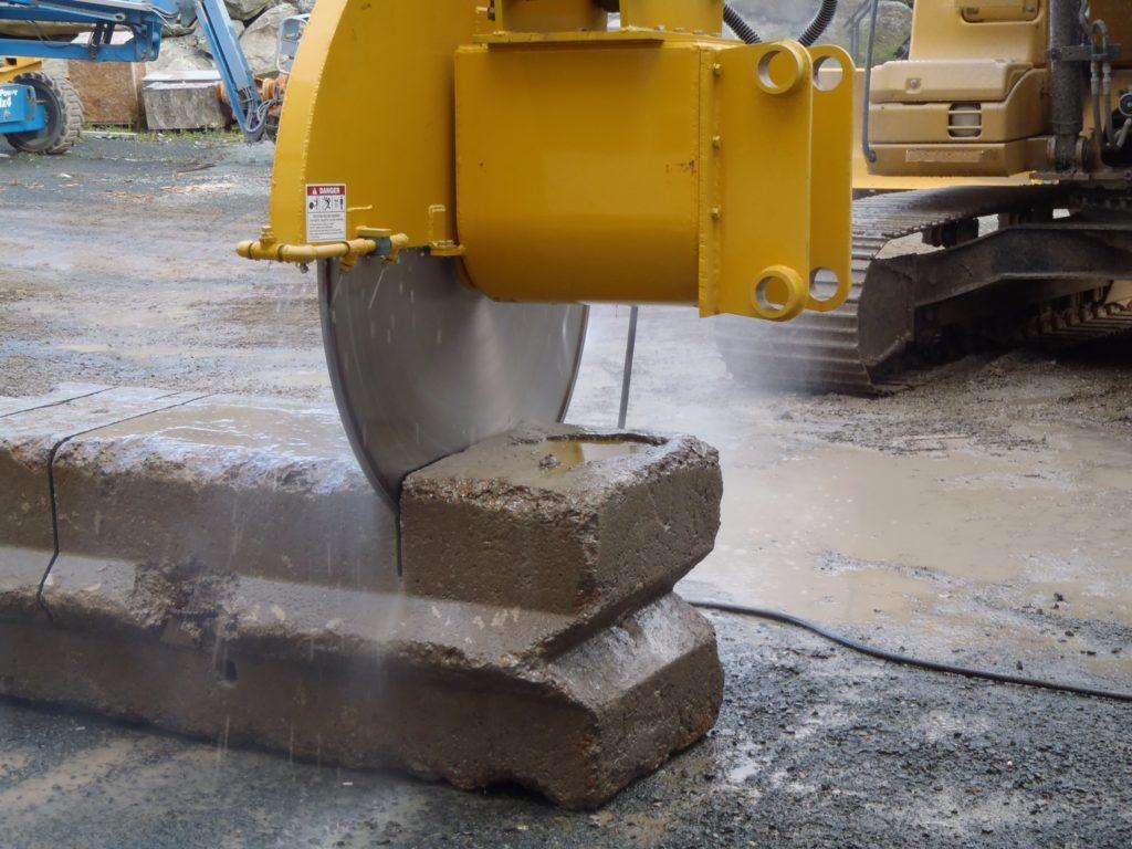concrete demolition saw attachment for excavator